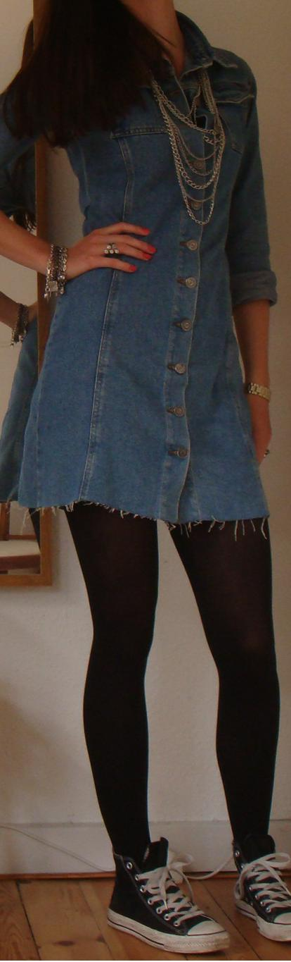 diy denim kjole
