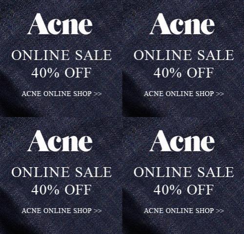 Køb Acne 40% Rabat