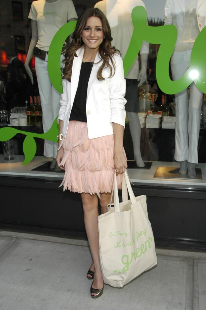 Olivia Palermo feather skirt